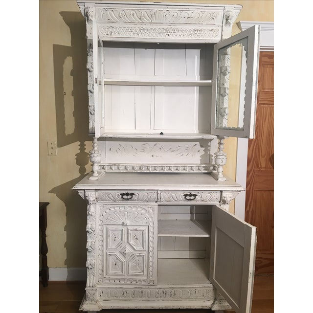 French Gothic Cabinet & Hutch - Image 7 of 8