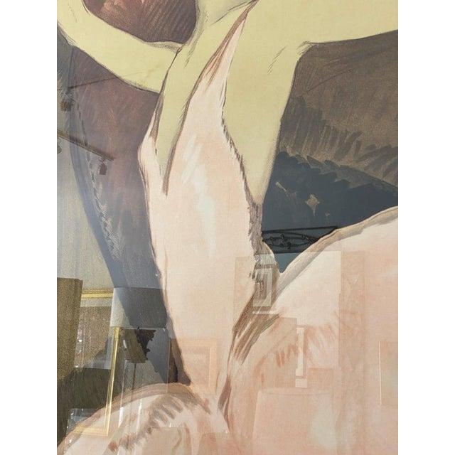 "Paper Vintage Art Deco ""Emmy Magliani"" Ballet Poster For Sale - Image 7 of 13"