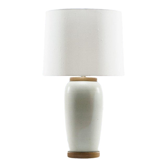 Lawrence & Scott Holden Table Lamp in White Oak For Sale
