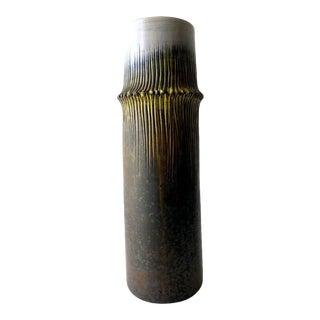 Marcello Fantoni for Raymor Italian Modernist Ceramic Bamboo Vase For Sale