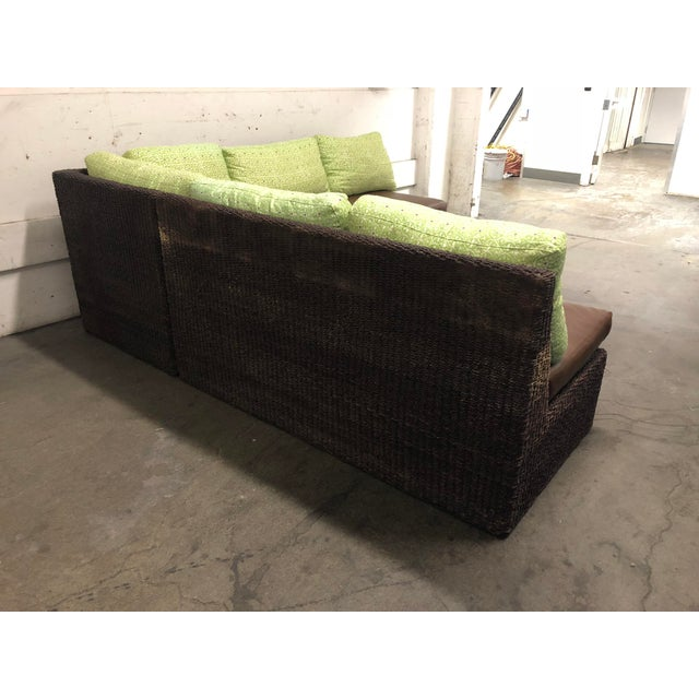 Early 21st Century Two Piece Sectional From Walter's Wicker Works For Sale - Image 5 of 10