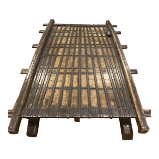 Vintage Asian Ox Cart Coffee Table For Sale