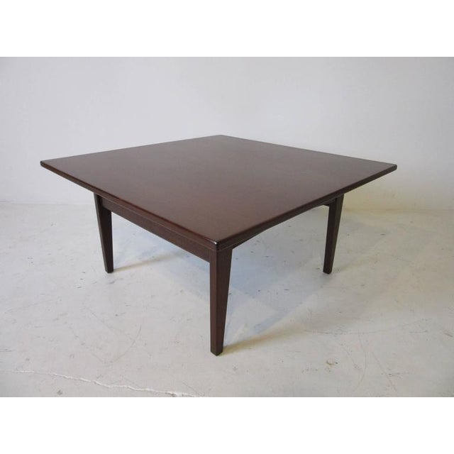 Contemporary Jens Risom Walnut Coffee Table For Sale - Image 3 of 7