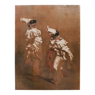 """Rare """"My Husband!"""" Vintage Lithograph by Gavarni For Sale"""
