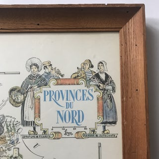 1951 Jacques Lizou Provinces Du Nord France Framed Map Preview