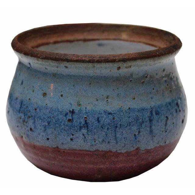 Vintage Blue Ceramic Dish - Image 1 of 4