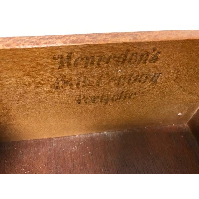 HENREDON 18th Century Portfolio Banded Walnut Sideboard Credenza - Image 6 of 11