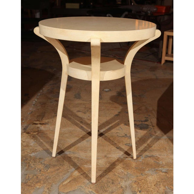 1990s Faux Parchment Sculptural Side Table For Sale In Los Angeles - Image 6 of 6
