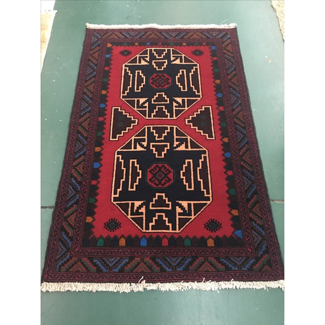 Oriental Hand-Knotted Wool Rug - 2′11″ × 4′6″ - Image 3 of 6