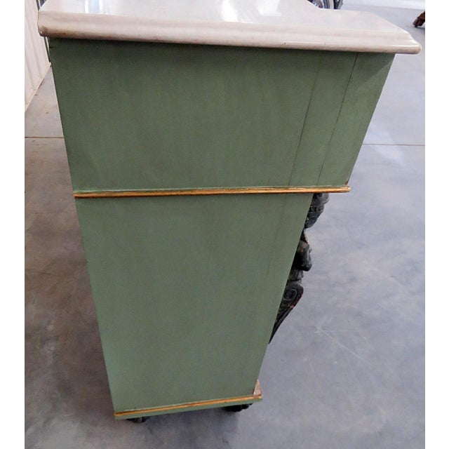 Pair of Marble Top Empire Style Commodes For Sale - Image 9 of 10