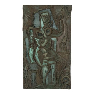 Abstract Bronze Plaque by Abbott Pattison For Sale