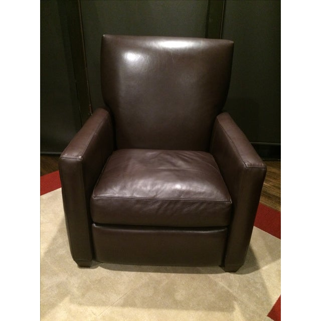 Crate and Barrel Leather Recliner - Image 2 of 3