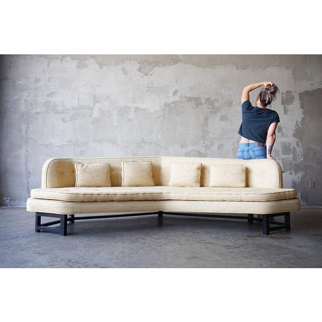 White Edward Wormley for Dunbar 'Janus' Sofa For Sale - Image 8 of 9