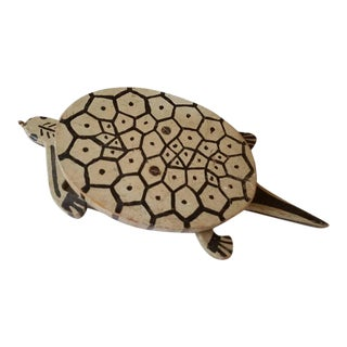 Folk Art Turtle Childs Toy, American, 1930s For Sale