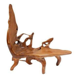 Biomorphic Teak Chaise Longue For Sale