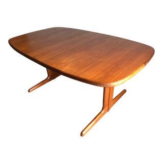 Vintage Mid-Century Danish Modern Extendable Dining Table by Skovby Mobelfabrik Denmark For Sale