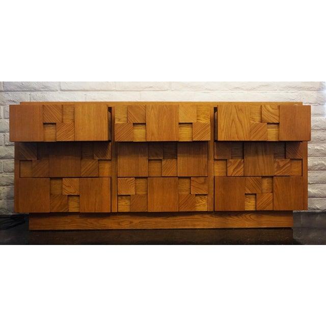 1950s Mid-Century Lane Brutalist Dresser For Sale - Image 5 of 7