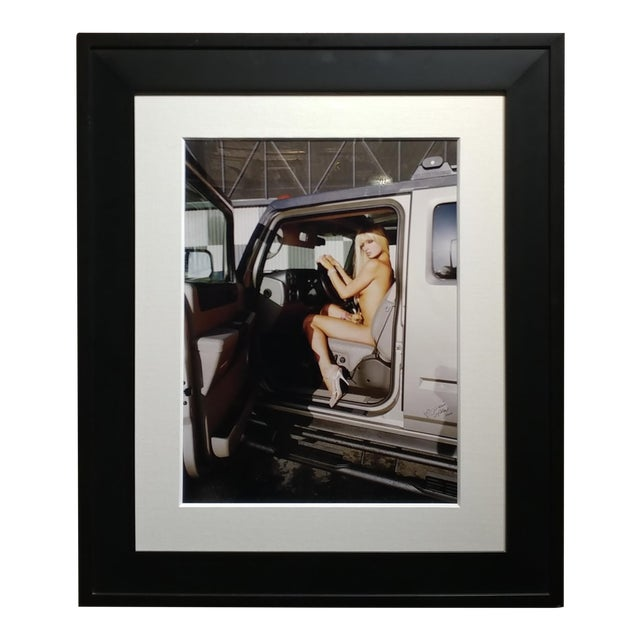 """""""Paris Hilton Nude With Tinkerbell"""" Original Photograph, Signed For Sale"""