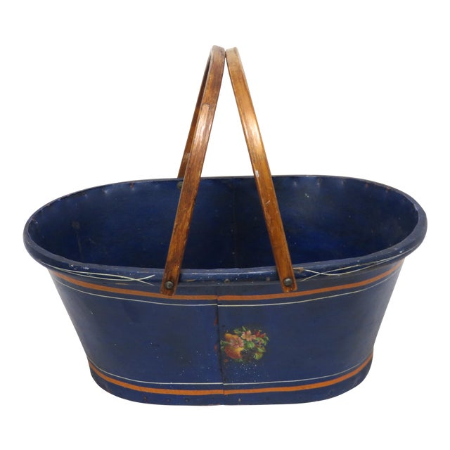 1890s Antique Grocery Shopping Carry Basket For Sale