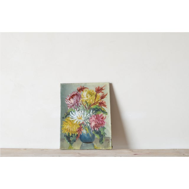 1900 - 1909 Floral Still Life by Andre H. Riemsel For Sale - Image 5 of 5