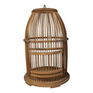 Vintage Mid Century Handmade Birdcage For Sale