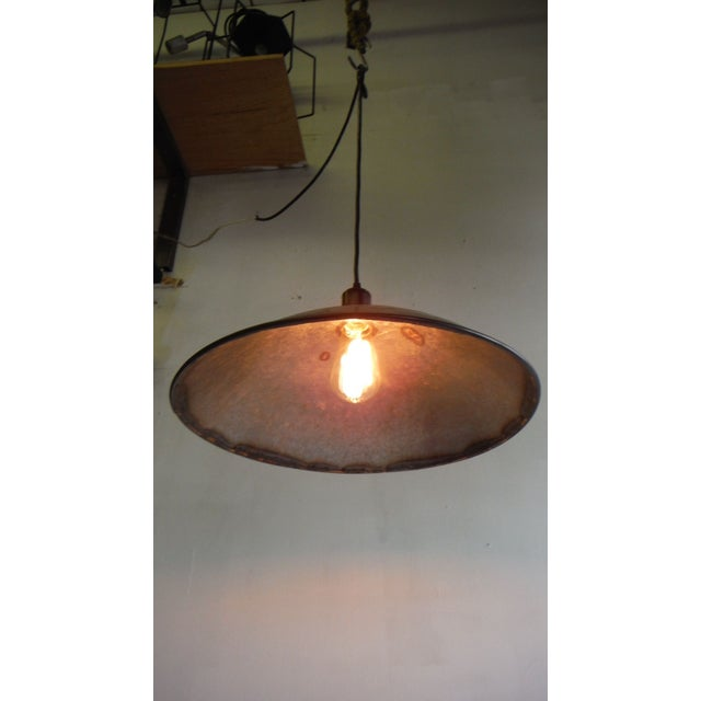 Large Hubcap Pendant Light For Sale - Image 5 of 5