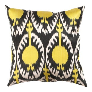 Turkish Hand Woven Silk Ikat Pillow 20'' #Ti 305 For Sale