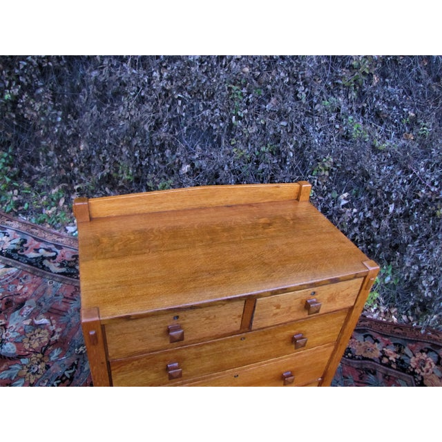 1900s Arts and Crafts Gustav Stickley Chest of Drawers For Sale - Image 10 of 13