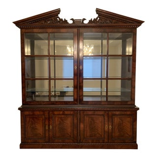 Henredon Natchez Collection Bookcase and Deck For Sale