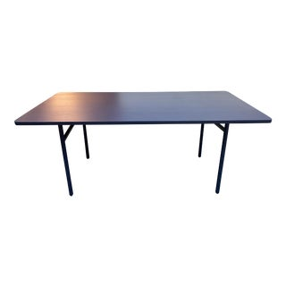 Woud Navy Blue Diagonal Dining Table For Sale