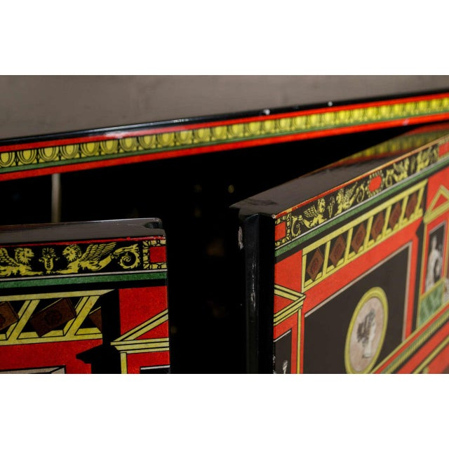 Modern Piero Fornasetti Exceptional Lacquered Encoignure/Corner Cabinet For Sale - Image 3 of 8