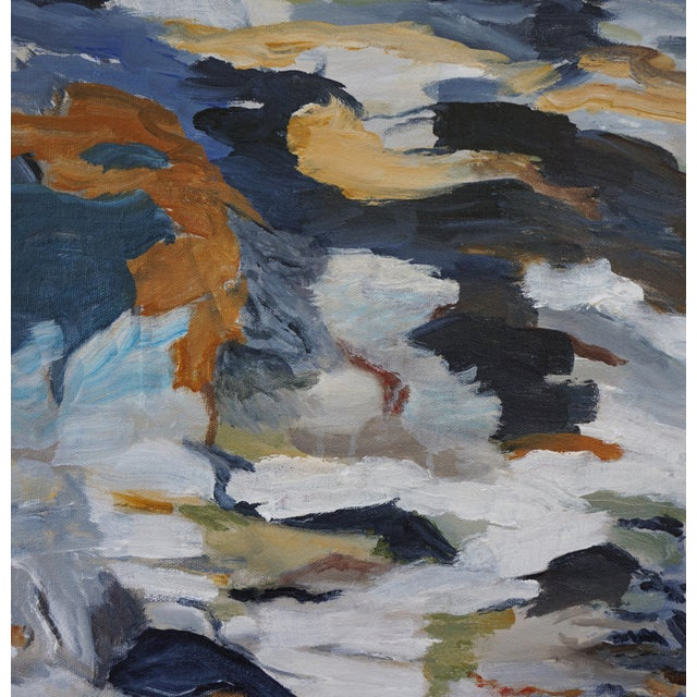 """Laurie MacMillan Laurie MacMillan """"First Thaw"""" Abstract Painting For Sale - Image 4 of 7"""