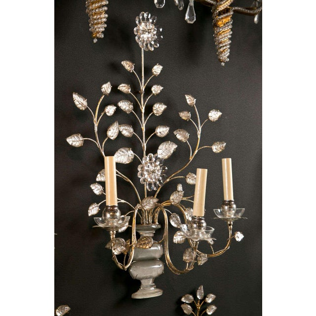 Transparent 1930s French Silver Leaf Sconces - a Pair For Sale - Image 8 of 9