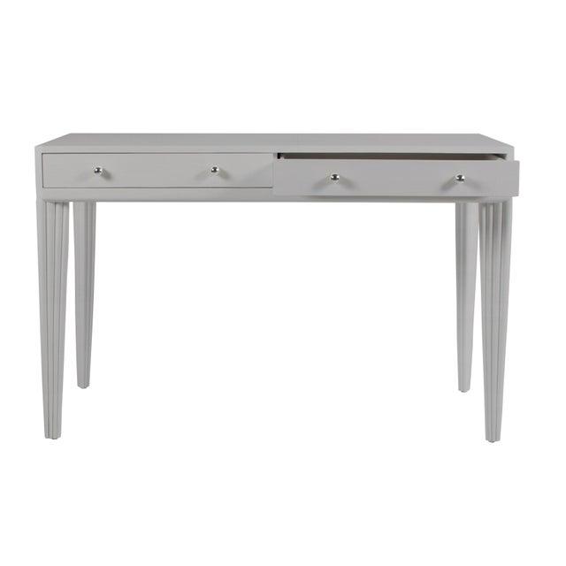 Contemporary Barcelona Desk - Light Gray For Sale - Image 3 of 6