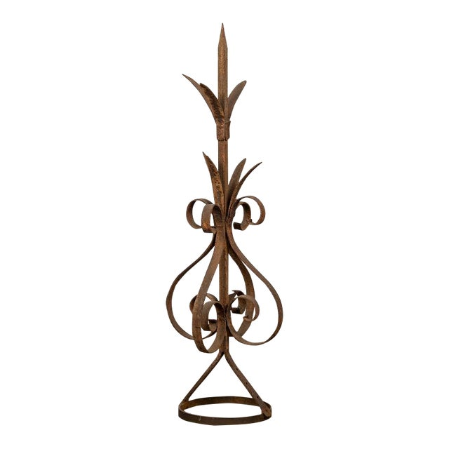 Antique Rustic French Hand-Forged Iron Finial, Normandy, circa 1880 - Image 1 of 6