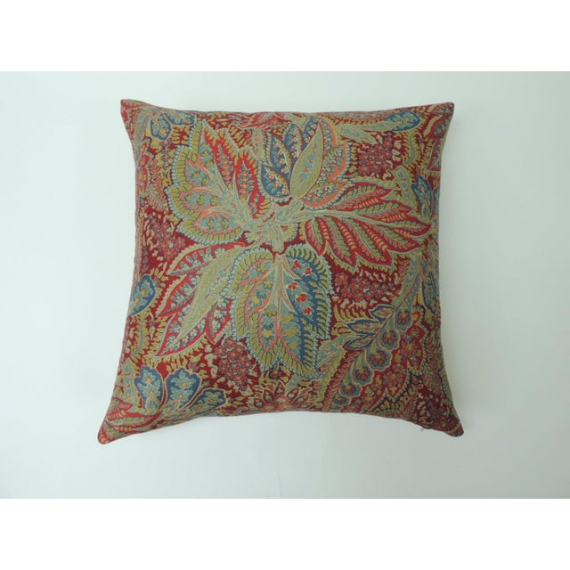 """Metal Pair of Hand Printed """"Chandigarh"""" Paisley Multi-Color Decorative Pillows For Sale - Image 7 of 7"""