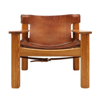 "Karin Mobring ""Natura"" Leather Lounge Chair, 1970s For Sale"