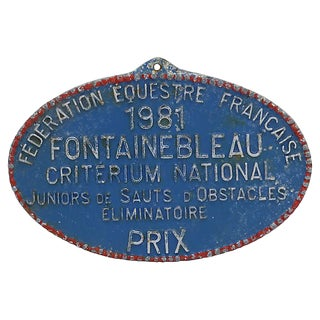 French Paris Horse Show Plaque - D. 1981 For Sale