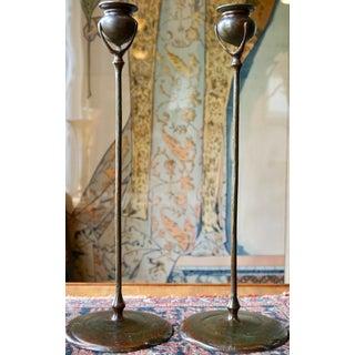 Pair of Tiffany Studios 1213 Art Nouveau Candle Sticks Preview