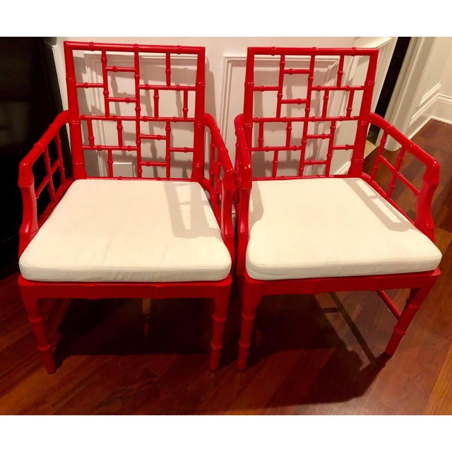 Modern Chinese Chippendale Arm Chairs- a Pair For Sale - Image 11 of 12
