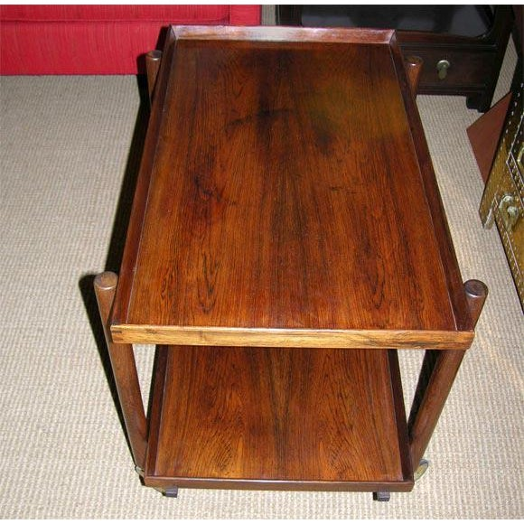 Rosewood Poul Hundevad Danish Rosewood Serving Trolley For Sale - Image 7 of 9