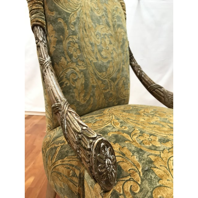 Empire Grosfeld House Lee Jofa Printed Velvet Chair For Sale - Image 10 of 12