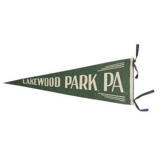 Vintage Lakewood Park, Pa. Felt Flag Pennant