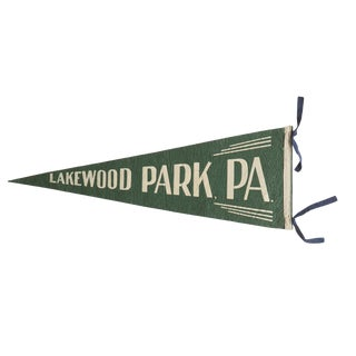 Vintage Lakewood Park, Pa. Felt Flag Pennant For Sale