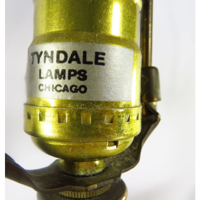 Tyndale Chicago Boudoir Table Lamps, 1980s - Pair - Image 4 of 8