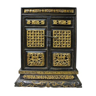 Vintage Chinese Gold Carved Buddha House For Sale