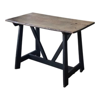17th Century Italian Antique Trestle Table For Sale