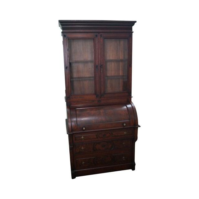 Victorian Walnut Cylinder Roll Secretary Desk - Image 1 of 10