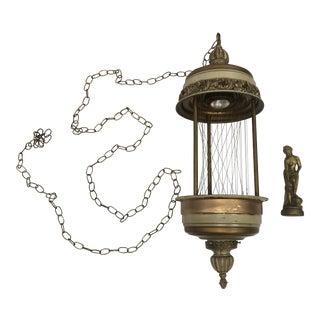 Vintage Mineral Oil Rain Hanging Lamp For Sale