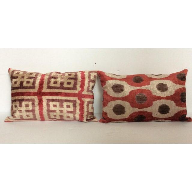 Purple Silk Velvet Ikat Pillow - Image 4 of 5